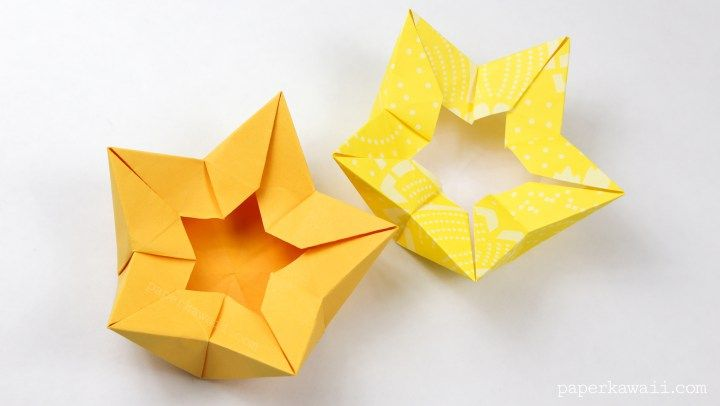 Origami star flower crown bowl tutorial flower crown tutorial origami star flower crown tutorial origami diy flower crown star bowl mightylinksfo