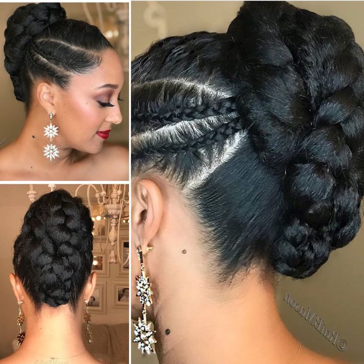diy prom updo, fauxhawk updo, formal updo | Natural hair updo