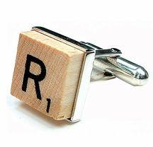 Scrabble tile cufflink #giftsforhim