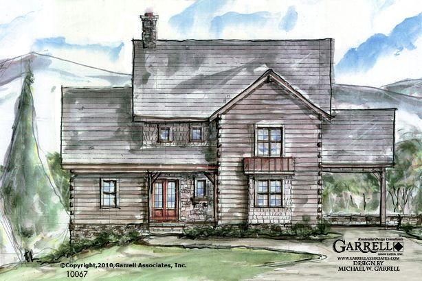 garrell associates, inc.barnwood house plan 10067, front elevation