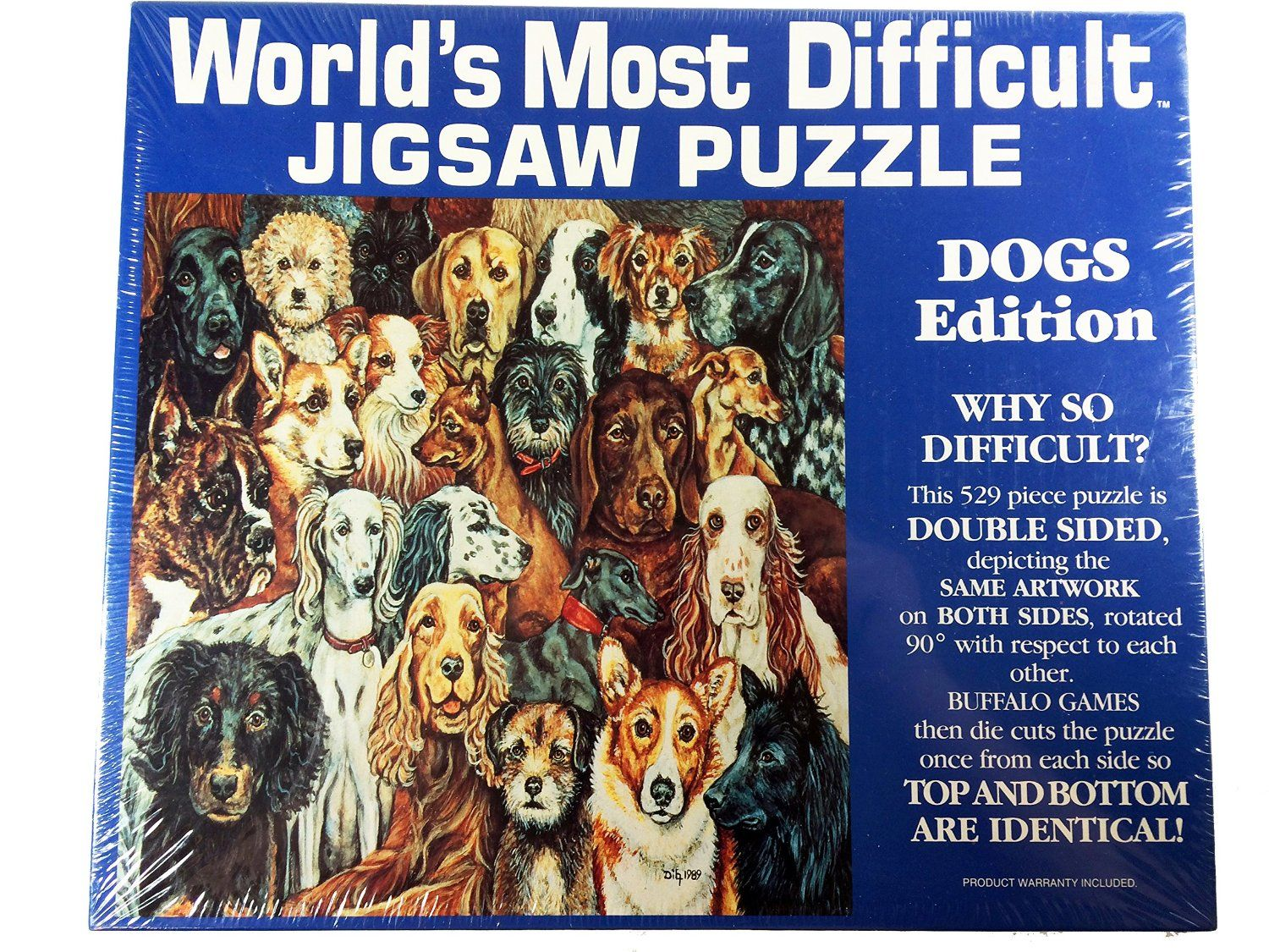 Amazon Com Worlds Most Difficult Puzzle Dogs Edition Toys