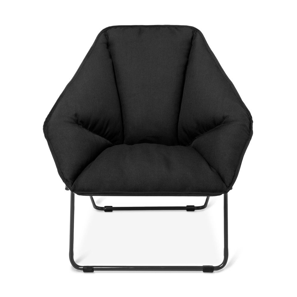 Hex Lounge Chair Black With Gray Legs Room Essentials Room