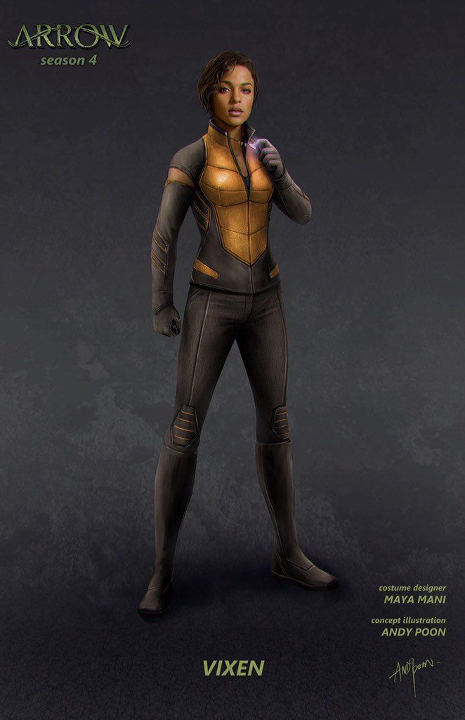 Character Concept Art For Vixen From Arrow And Legends Of -7477