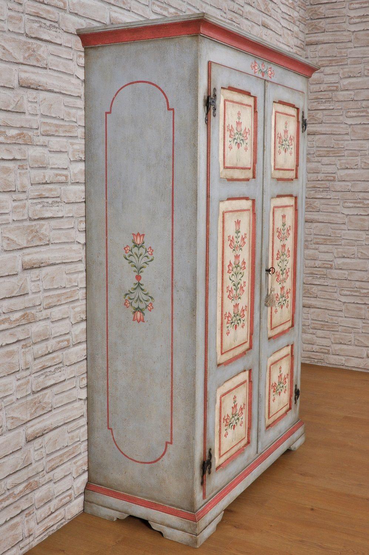 Armadio D Epoca A 2 Ante Decorato In Stile Barocco 700 Tirolese
