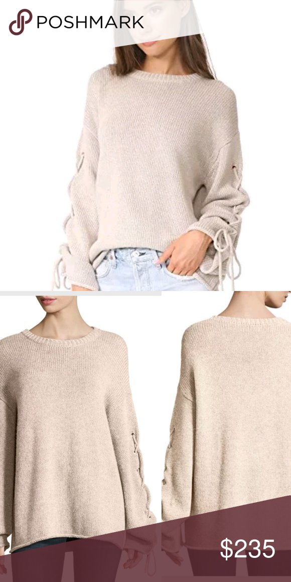 11ceb7f3 See By Chloe Lace Up Sleeves Cable Knit Sweater New without ...