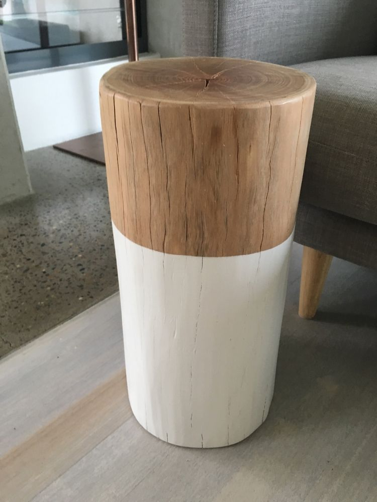 Stool Bedside Table: Handmade Hendrix & Harlow Log Stool Or Side Table
