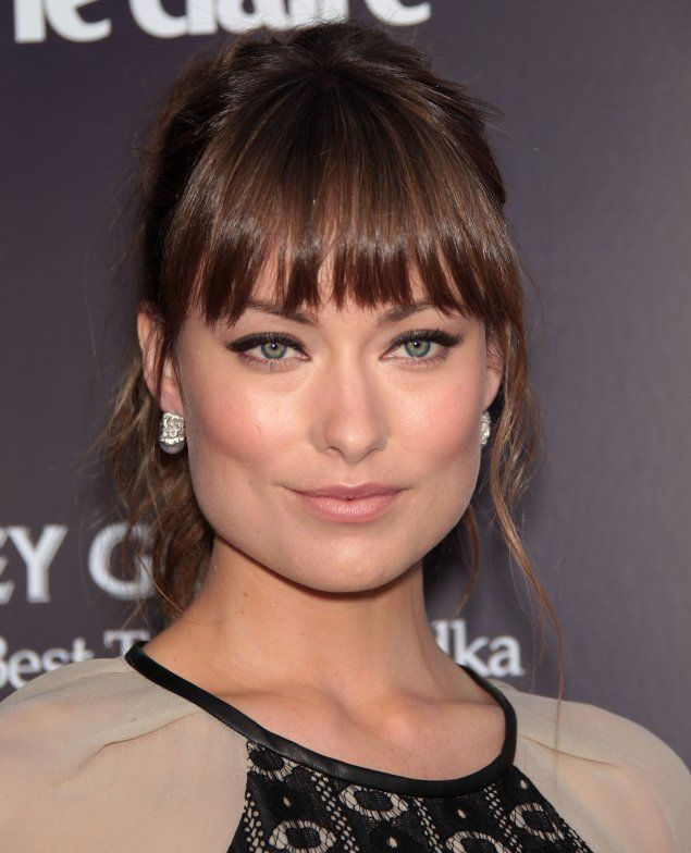Choppy Haircuts For Square Face: Olivia Wilde Straight Choppy Bangs. Thinking About Being