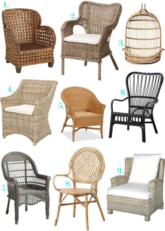 Natural Fiber, Rattan Chairs For Indoor Spaces