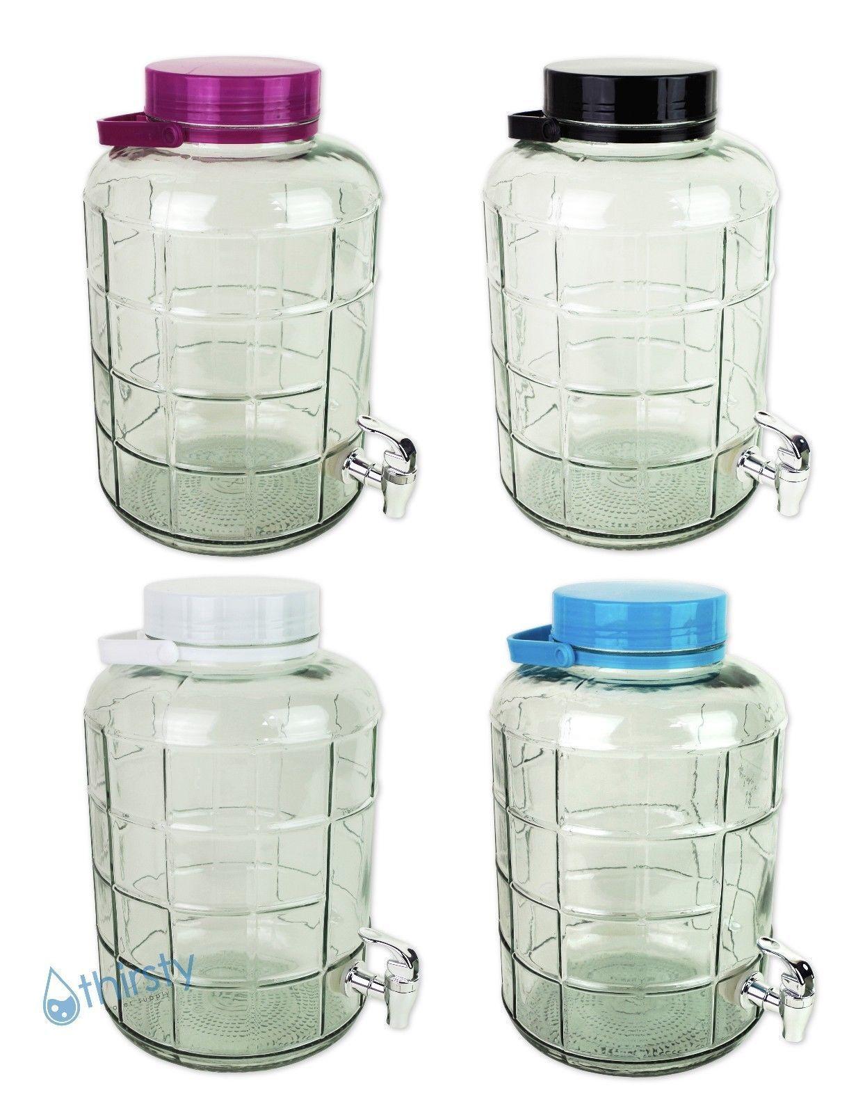 3 Gallon Glass Water Bottle Carboy Faucet Spigot Dispenser Canteen