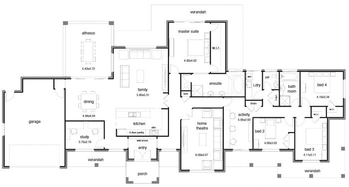 Floor Plan Friday Open Plan Wide Block And Activity Room Open House Plans House Plans Australia Home Design Floor Plans