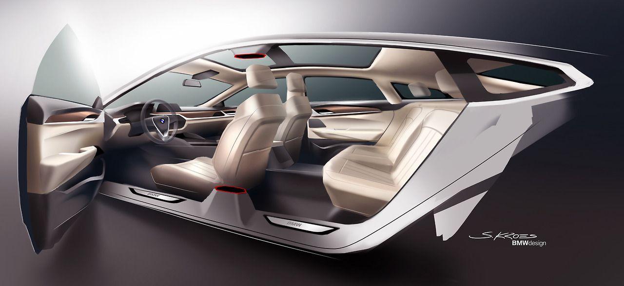 Bmw 6 Series Gt Interior Design Sketch By Sebastian Kroes Bmw 6