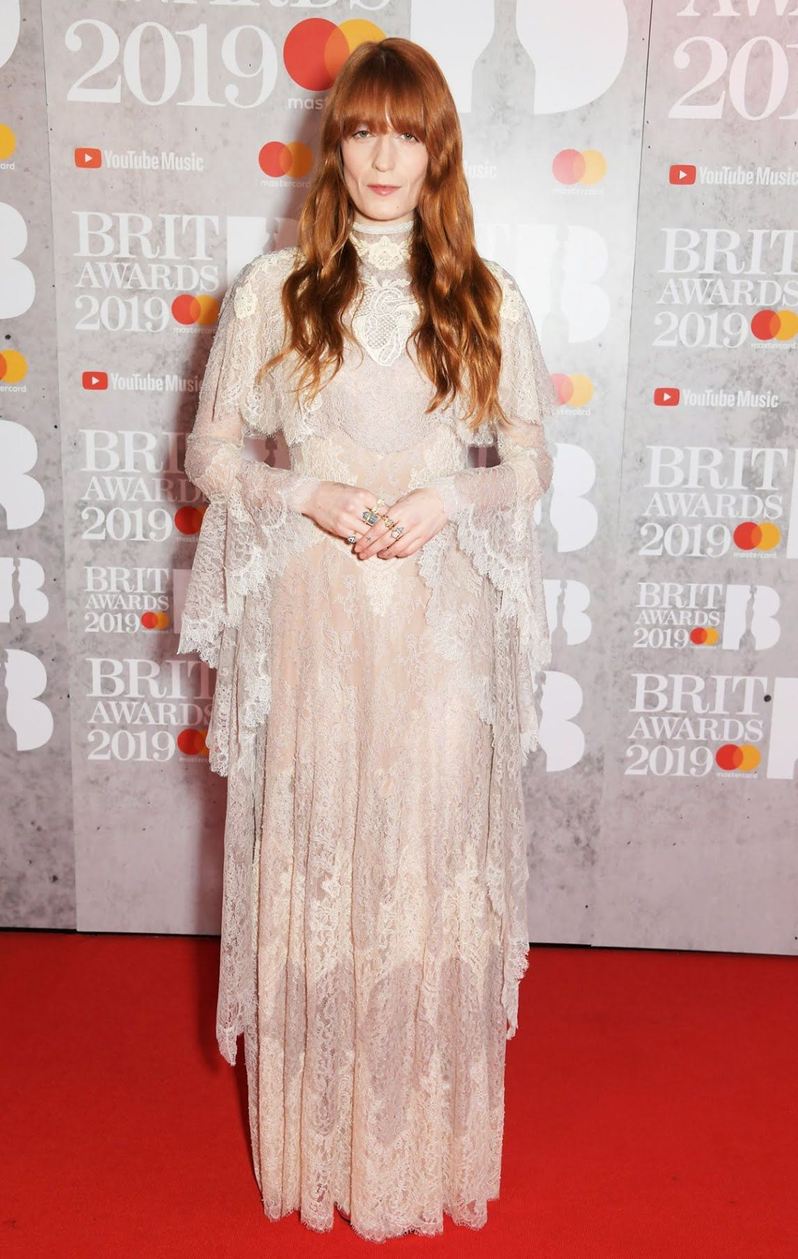 Florence Welch In Gucci at the 2019 Brit Awards Nice