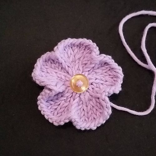 Ravelry Basic 60 Petal Knitted Flower Pattern By Adeline Too Delectable Free Knitted Flower Patterns