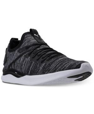 Puma IGNITE FLASH EVOKNIT - Sports shoes - puma black/asphalt/puma white b2eSWt