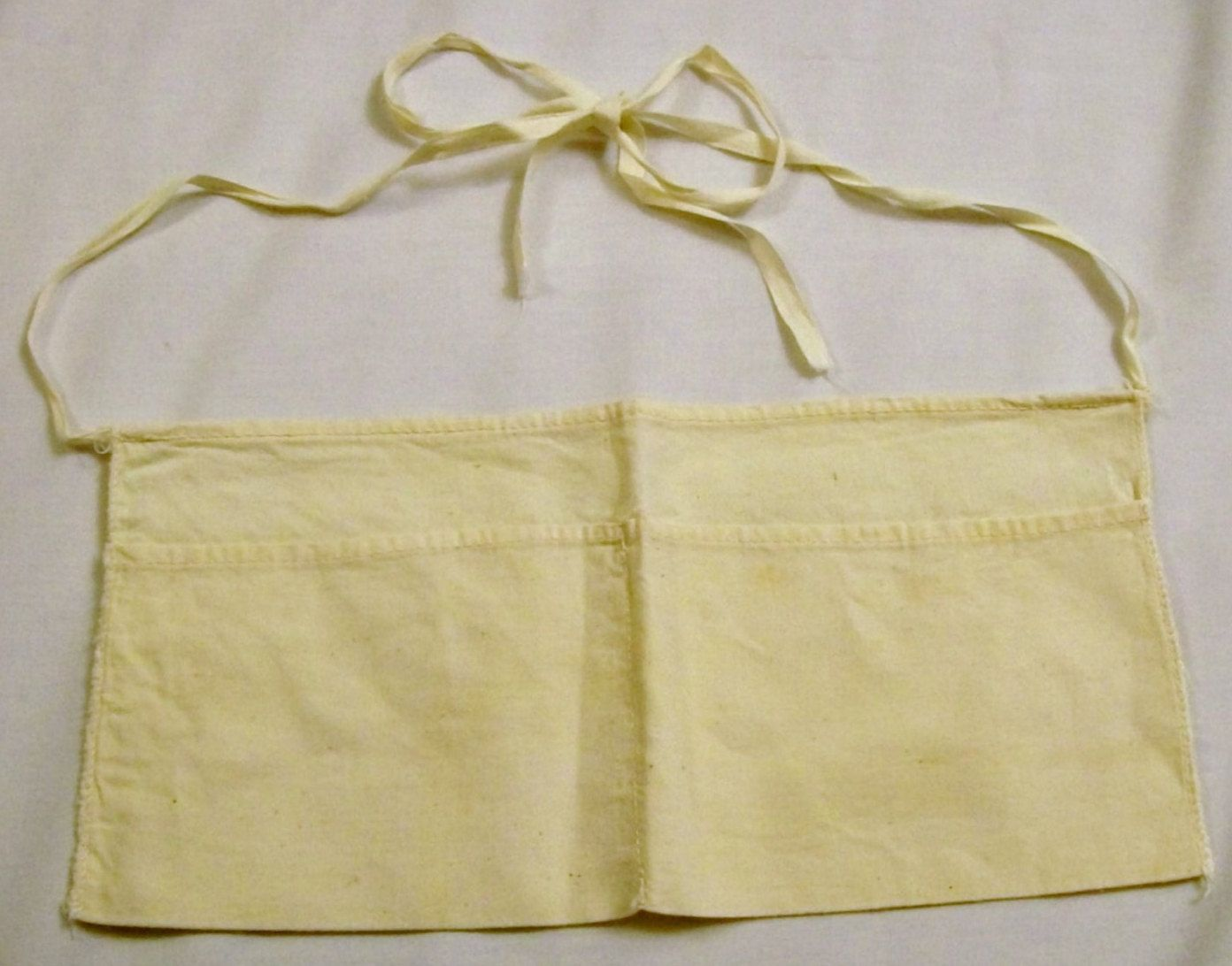 White apron in store - Vintage Nail Pouch Plain White Nail Apron Hardware Store Apron By Vintagepluscrafts On Etsy