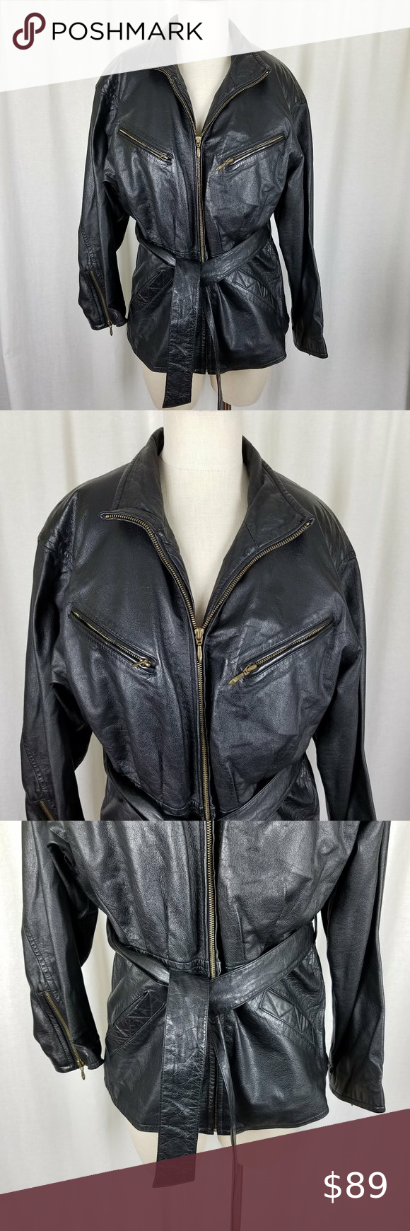 Wilsons Leather Black Belted Thinsulate Jacket M in 2020