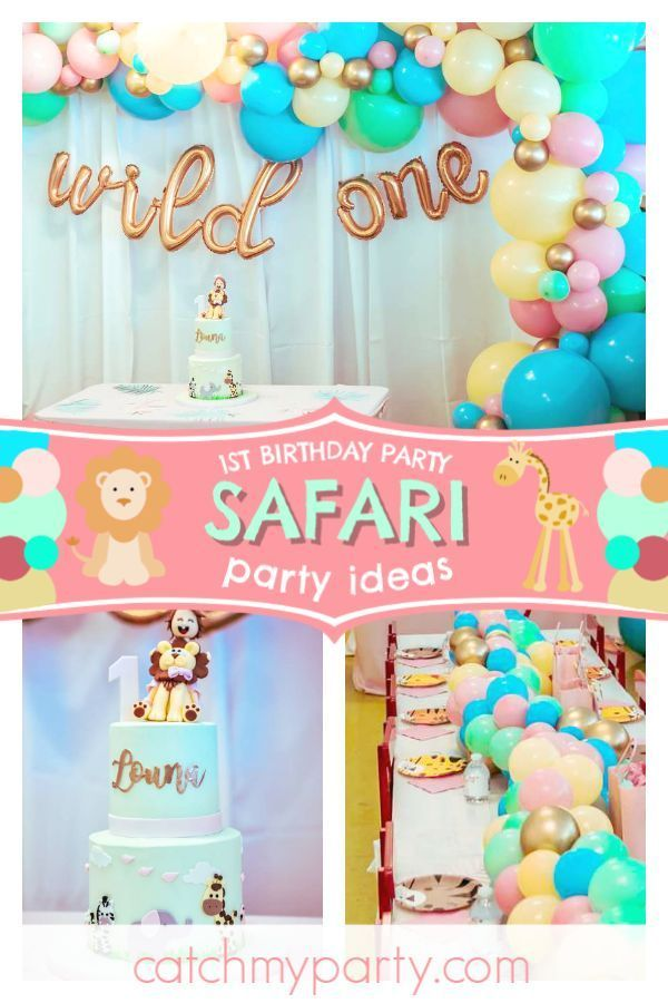 Go wild over this gorgeous safari 1st birthday party! Love the cake decorated wi... #safaribirthdayparty Go wild over this gorgeous safari 1st birthday party! Love the cake decorated wi... #1st #birthday #Cake #decorated #gorgeous #love #party #safaribirthdayparty