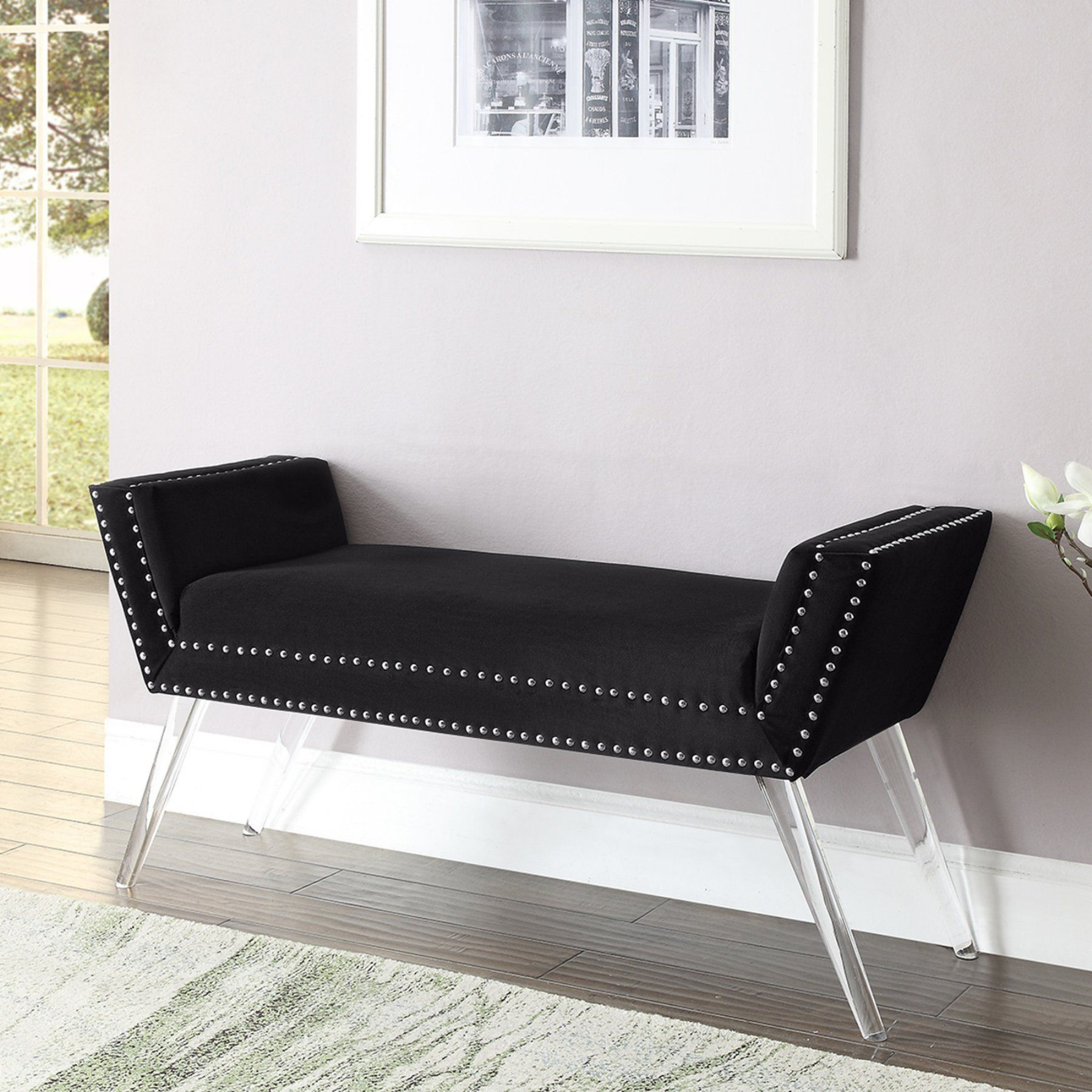 Inspired Home Justin Contemporary Bedroom Bench | Products ...