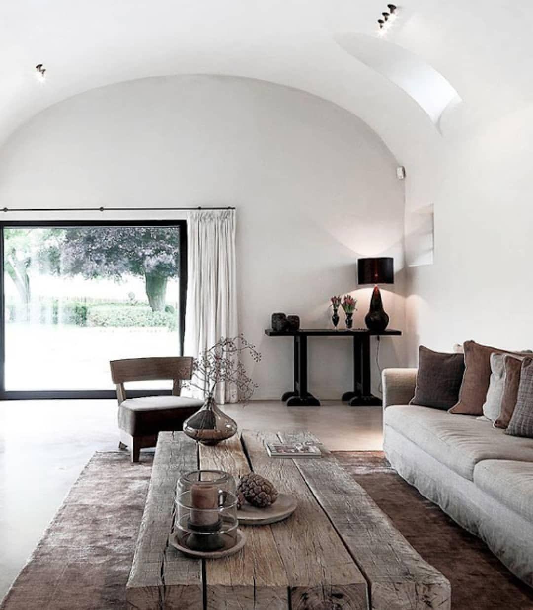 Rooms: INTERIORS: Natural Tones And Rustic Materials Bring An
