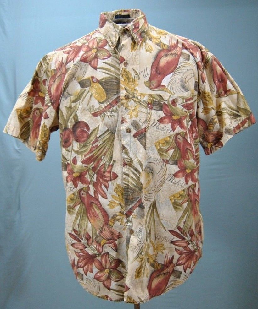 24fe17791 Vintage Hawaiian Camp Shirt Chaps Ralph Lauren S. M Cotton Multicolor  Floral S/S #ChapsRalphLauren #Hawaiian