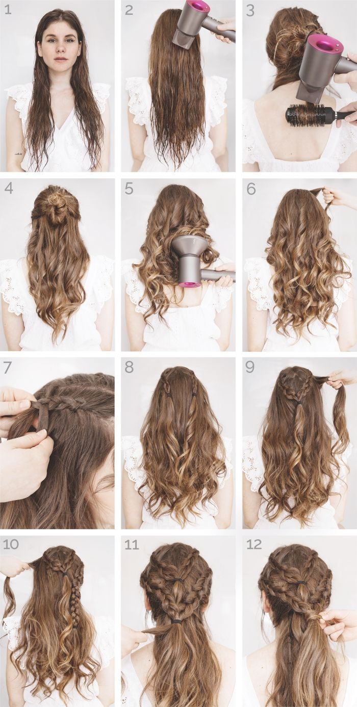 Une coiffure simple et rapide 56 variantes en photos et
