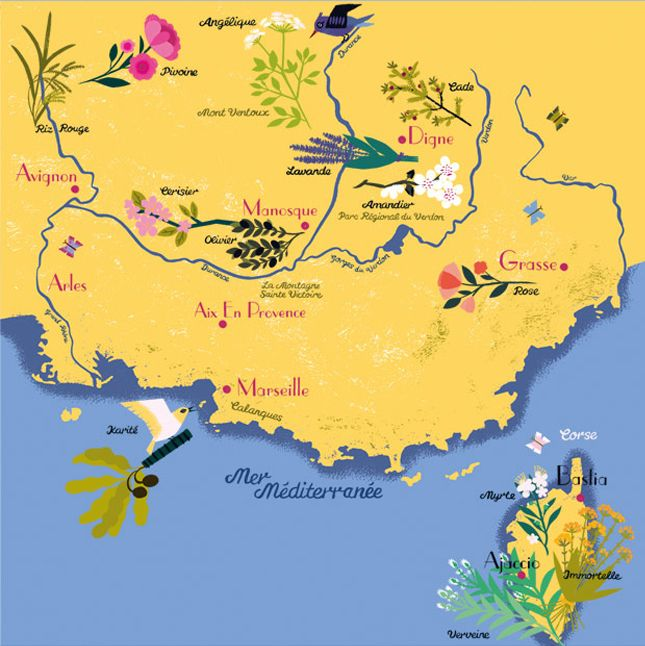 Map Of France Kisses.Happy Voyage Off To The Provence Provence L Occitane En