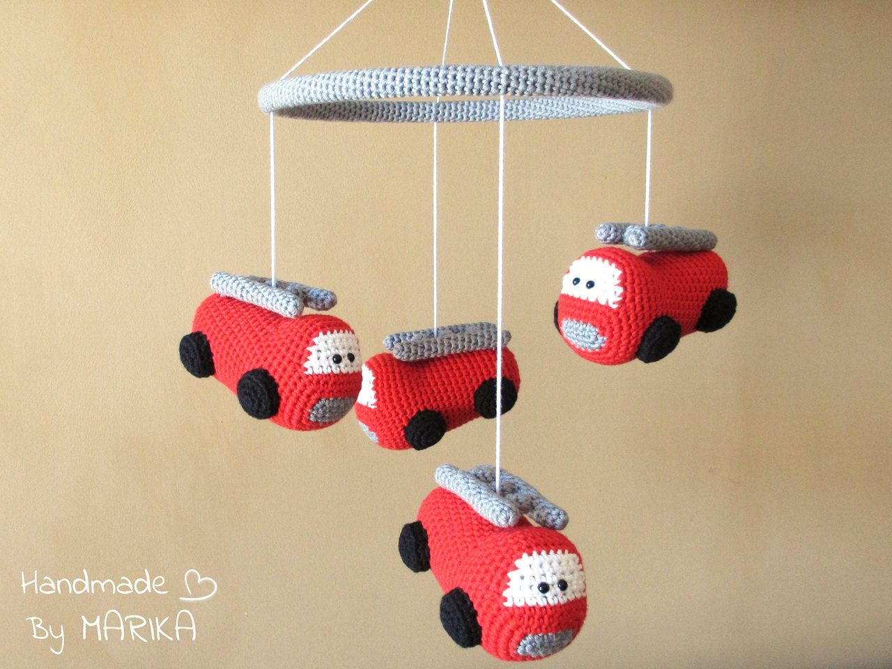 Organic Cotton Crochet Fire Truck