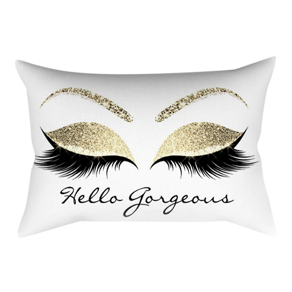 Eyelash Out Soft Velvet Cushion Cover 30x50cm Marble Pillow Cases Kjselections Marble Pillow Lash Pillow Velvet Cushions