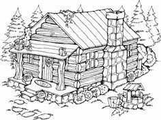 Summer Cabin N 14 Coloring Pages Wood Burning Patterns Wood Burning Art