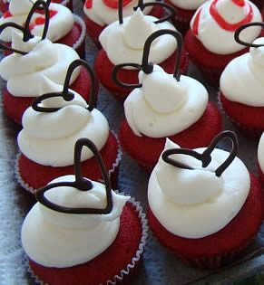 Charmingly Chocolate, Valentine Cupcake Ideas And