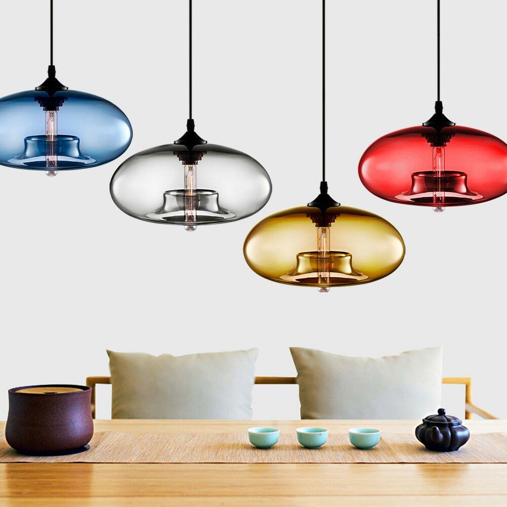Details About Modern Colored Glass Ceiling Light Chandelier Loft Lighting Fixture Pendant Lamp Pendant Ceiling Lamp Glass Ceiling Lights Ceiling Lights