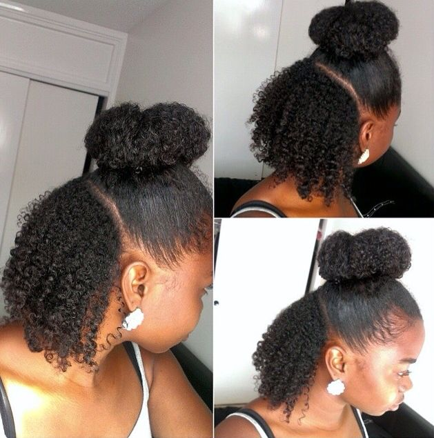 how to wash and style hair half up half wash n go style real hair 6911