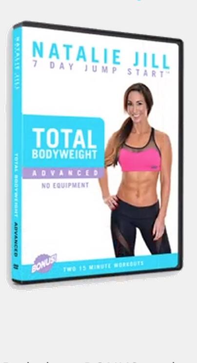 Body Weight Workout Dvds Natalie Jill Fitness Natalie Jill Fitness Bodyweight Workout Weights Workout