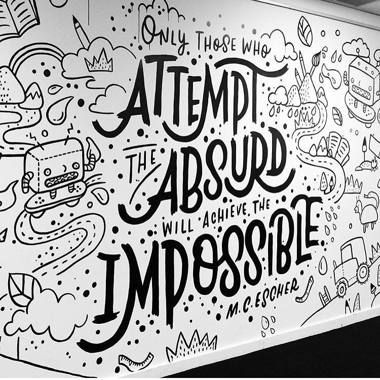 "3,331 Likes, 10 Comments - Type • Design • Illustration (@typetopia) on Instagram: ""Great mural by @theletterettes  Submit your work with #typetopia"""