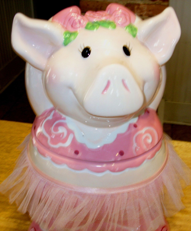 Vintage Cookie Jar Ceramic Pig Ballerina Cookie Jar Unique Kitchen Decor By  TimelessAndTreasures On Etsy Https