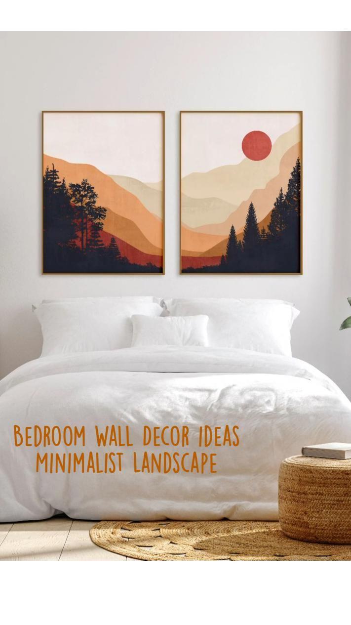 Bedroom Wall Decor ideas Minimalist Landscape