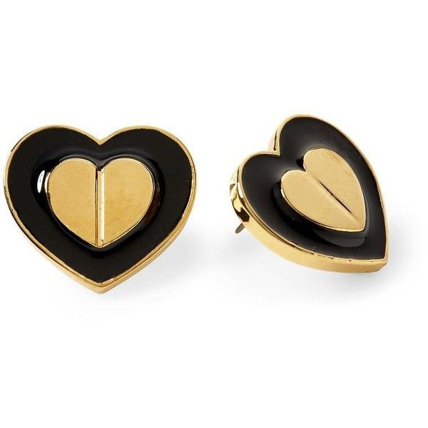 Betsey Johnson Heart in Heart Stud Earring ($28) ❤ liked on Polyvore