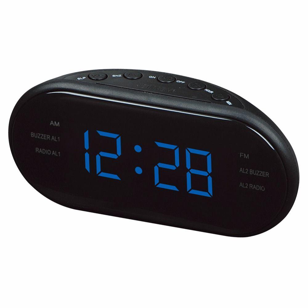 office radios. New Fashion Modern AM/FM LED Clock Radio Electronic Desktop Alarm Digital Table Clocks Snooze Function For Home Office Radios A
