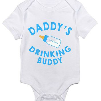Funny Daddys Drinking Buddy Baby Clothes Infant Bodysuit Baby