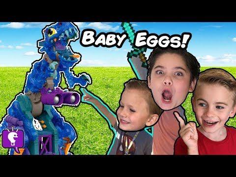Giant Rex Bones Egg Adventure With The Hobbykids Youtube