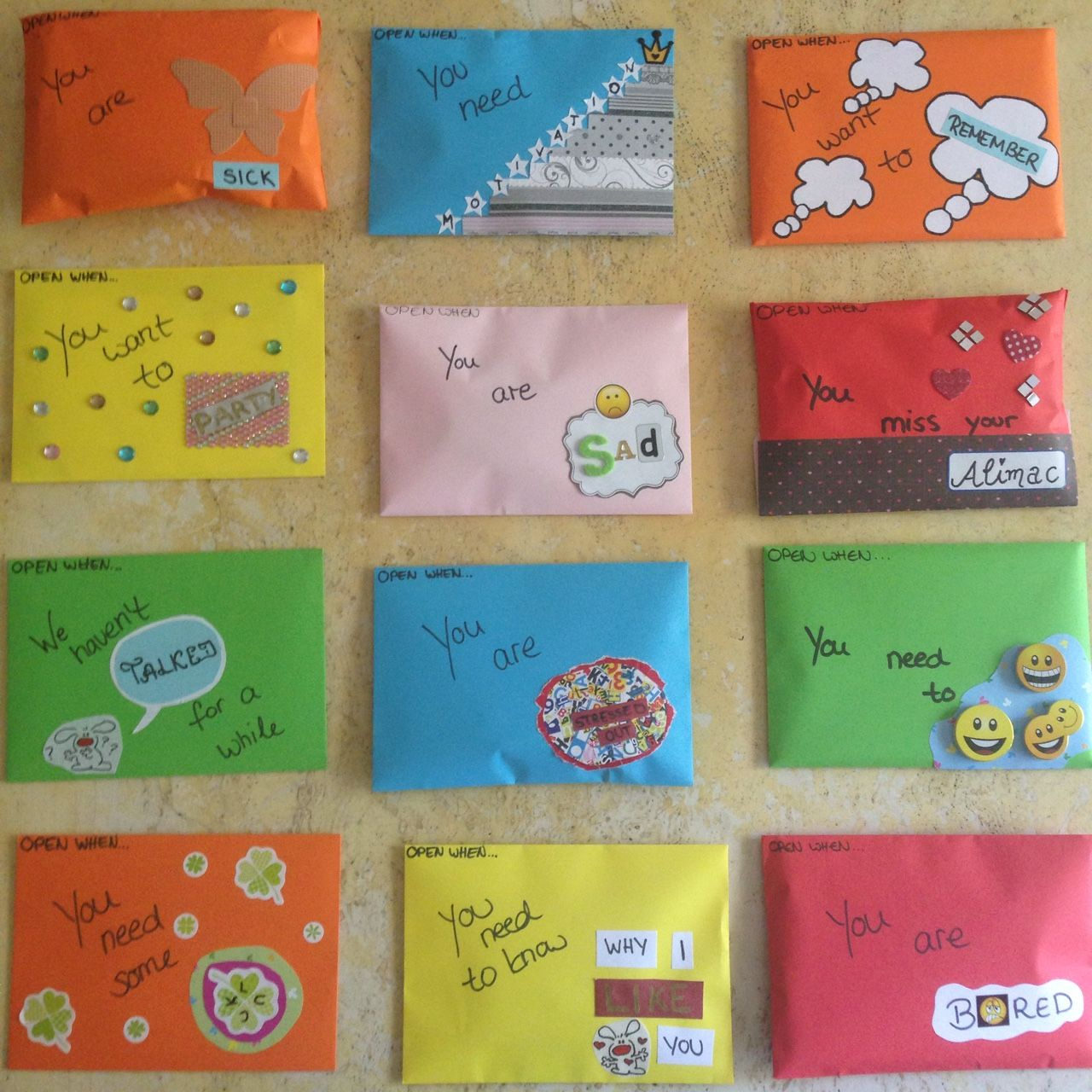 Makingeverymomentcount Open When Letters That I Made For A Very