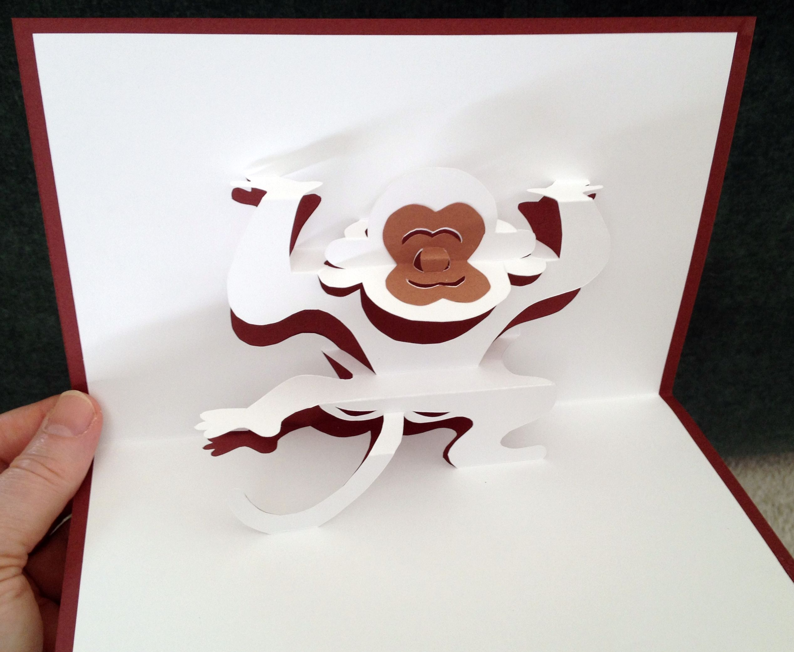 Monkey Pop Up Card Pop Up Cards Cards Handmade Diy And Crafts