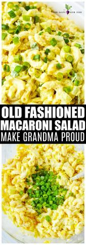 Old Fashioned Macaroni Salad Recipe side dish perfect for feeding a crowd  just  Old Fashioned Macaroni Salad Recipe side dish perfect for feeding a crowd  just