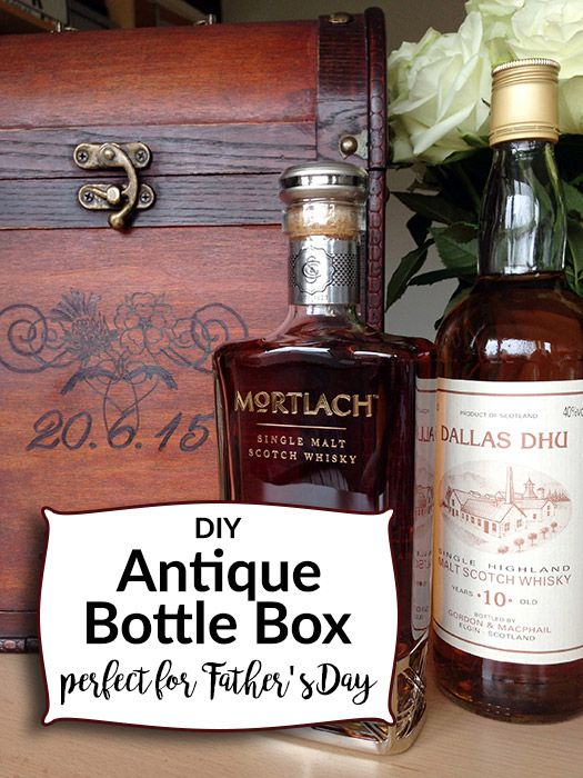 Unique Bottle Box Gift Idea Wedding Father S Day Anniversary