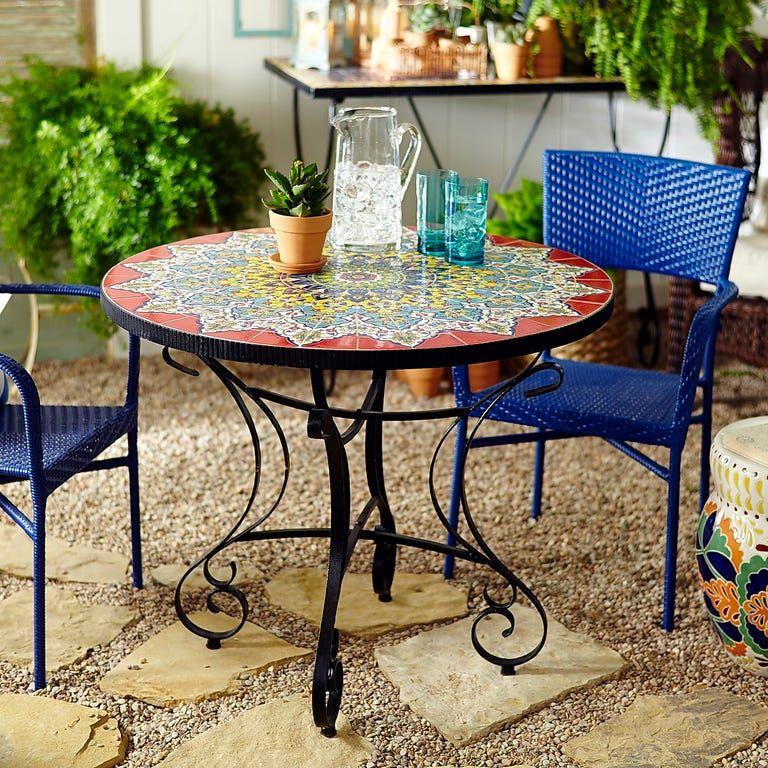bistro table outdoor round patio table