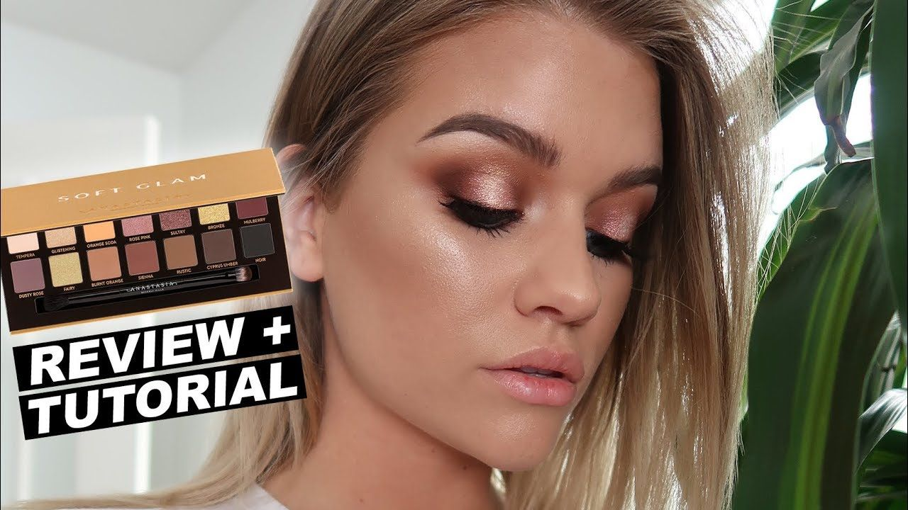ABH SOFT GLAM PALETTE Review + Tutorial YouTube Dark
