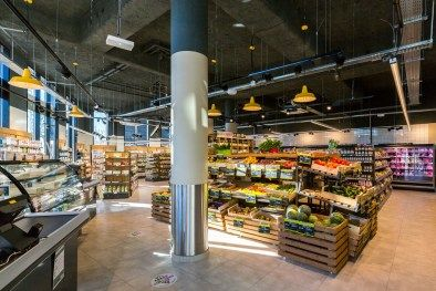 supermarché chemin lumineux led suspension industrielle magasin 100