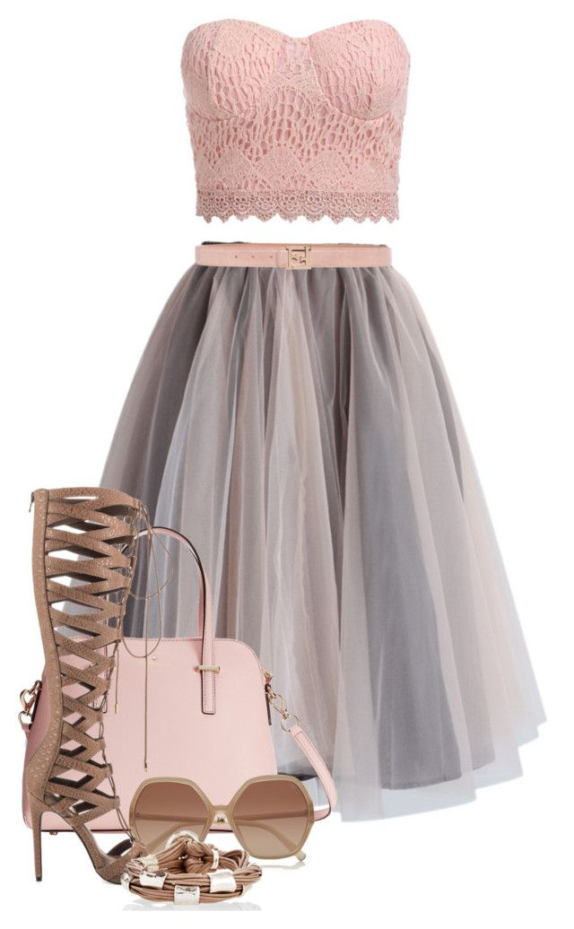 """Pink taupe 2"" by danigrll ❤ liked on Polyvore featuring Chicwish, Kate Spade, Chloé, Privileged, Fendi and Gillian Julius"