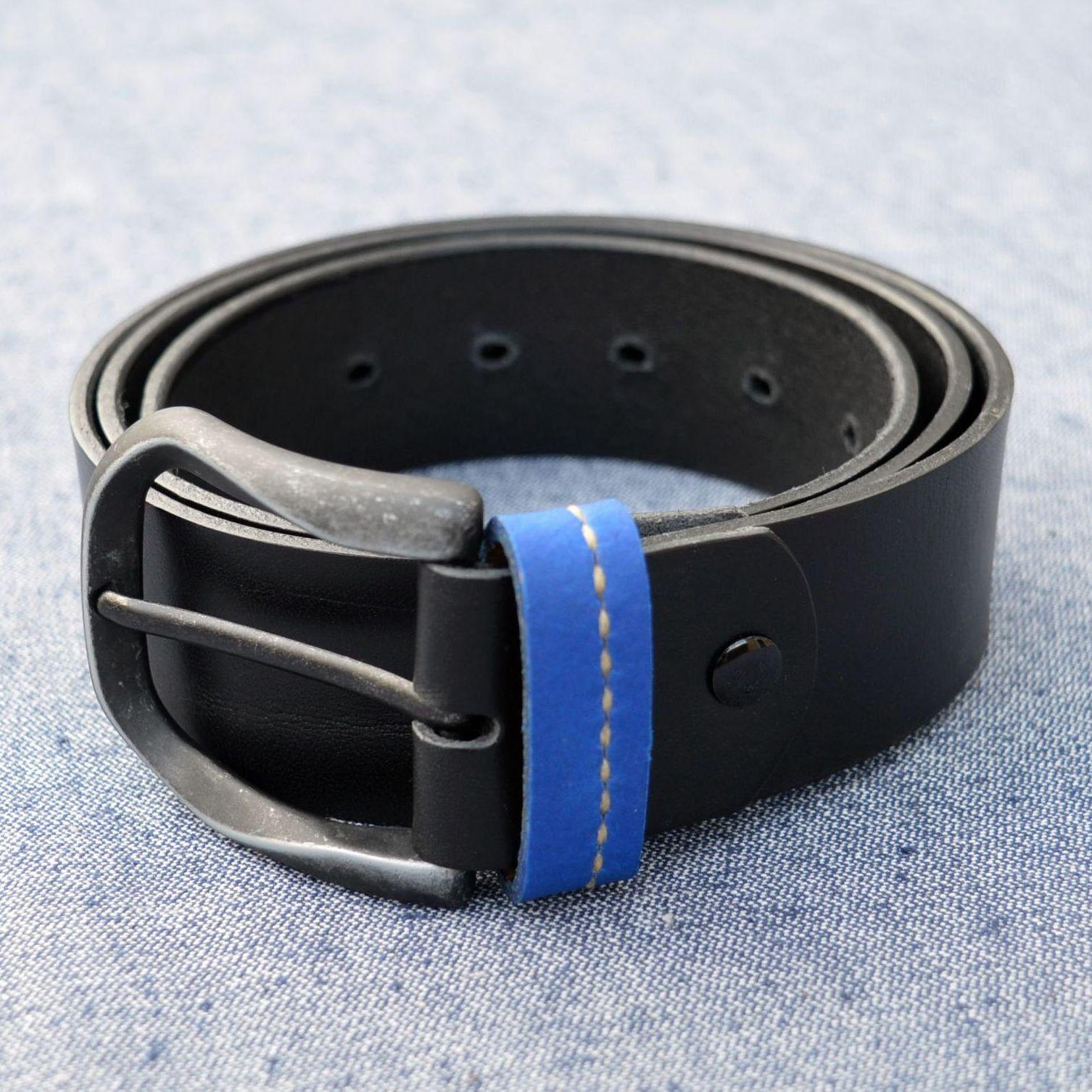 Leather belt Nordic Sweden Mens leather casual belt 40 mm