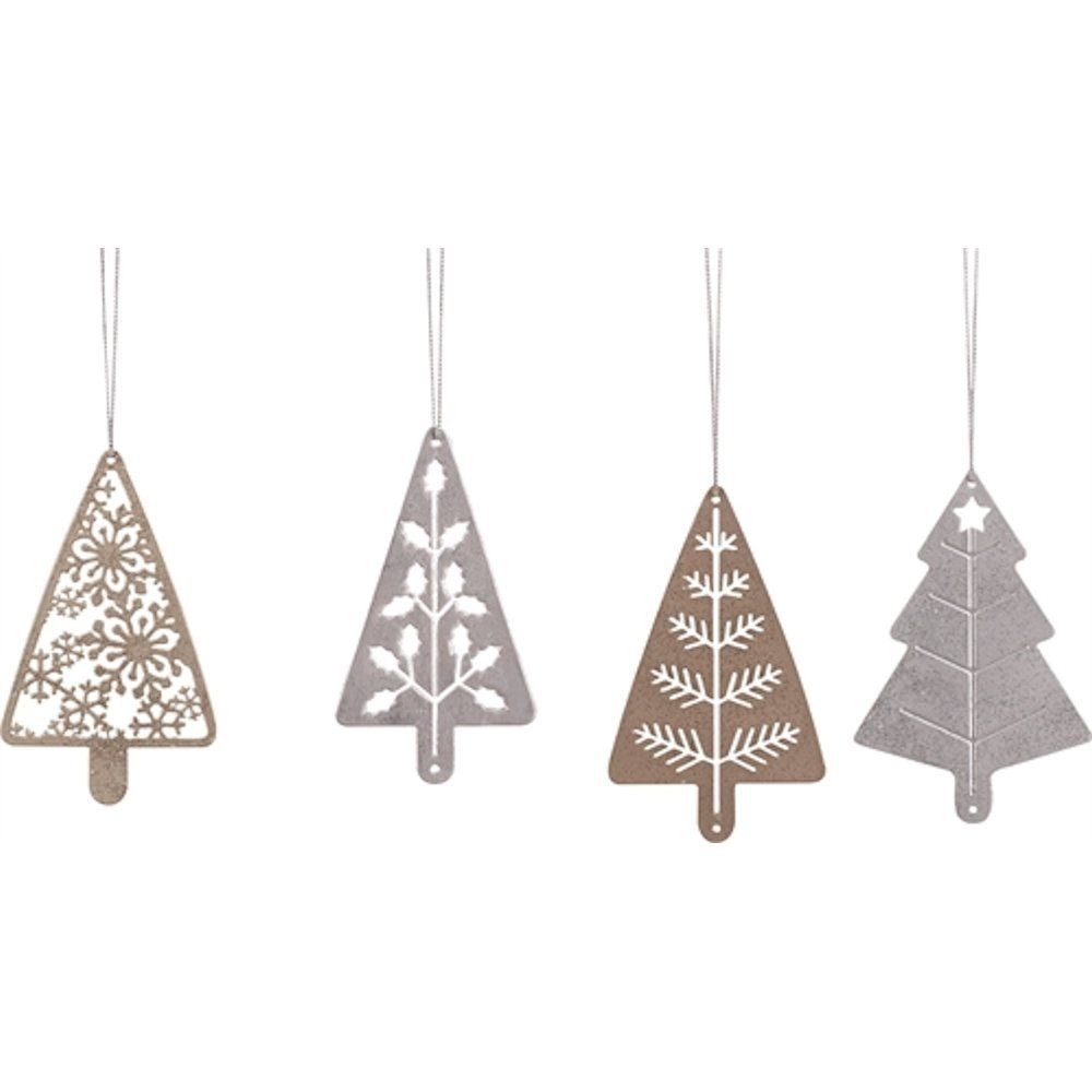 Metal Cutout Holiday Tree Ornament Winter Holiday Vibes